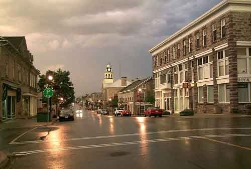 Downtown Heritage Perth after summer storm - courtesy the Perth Courier