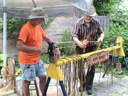 Summer in the Courtyard - Making Rope Demonstration by Don Green
