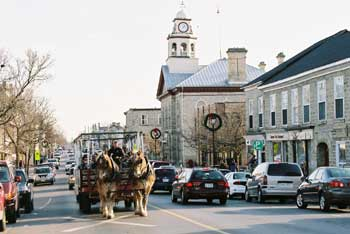Perth Ontario: Gore Street scene - Town hall in background